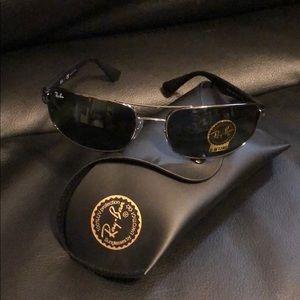 Authentic Ray-Ban Men's Rectangular Sunglasses
